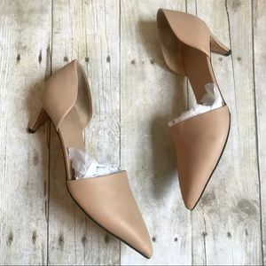 Vince Claire D'Orsay Leather Heels Size 8